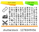clip icon set. 120 filled clip ... | Shutterstock .eps vector #1278349456