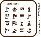 state icon set. 16 filled...