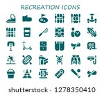 recreation icon set. 30 filled ... | Shutterstock .eps vector #1278350410