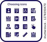 choosing icon set. 16 filled... | Shutterstock .eps vector #1278350470