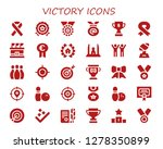 victory icon set. 30 filled... | Shutterstock .eps vector #1278350899