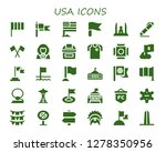 usa icon set. 30 filled usa... | Shutterstock .eps vector #1278350956