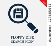 floppy disk search icon.... | Shutterstock .eps vector #1278350983