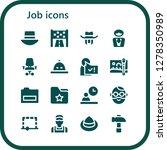 job icon set. 16 filled job...   Shutterstock .eps vector #1278350989