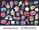 big set of stickers  patches ... | Shutterstock .eps vector #1278352543