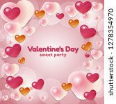 happy valentines day concept... | Shutterstock .eps vector #1278354970
