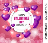 happy valentines day concept... | Shutterstock .eps vector #1278354973