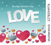 happy valentines day concept... | Shutterstock .eps vector #1278354976