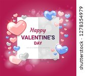 happy valentines day concept... | Shutterstock .eps vector #1278354979