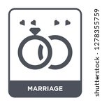 marriage icon vector on white... | Shutterstock .eps vector #1278355759