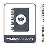 wedding album icon vector on... | Shutterstock .eps vector #1278355780