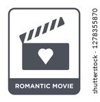 romantic movie icon vector on... | Shutterstock .eps vector #1278355870