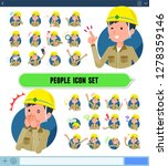 a set of working man with... | Shutterstock .eps vector #1278359146
