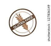 gluten free stamp   Shutterstock .eps vector #127836149