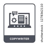 copywriter icon vector on white ... | Shutterstock .eps vector #1278362110