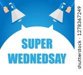 super monday announcement  hand ... | Shutterstock .eps vector #1278367249