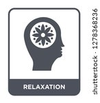 relaxation icon vector on white ... | Shutterstock .eps vector #1278368236