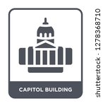 capitol building icon vector on ... | Shutterstock .eps vector #1278368710