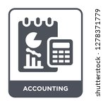 accounting icon vector on white ... | Shutterstock .eps vector #1278371779