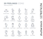 collection of 20 feelings... | Shutterstock .eps vector #1278376156