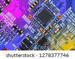 electronic circuit board close... | Shutterstock . vector #1278377746