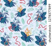 fashionable pattern with exotic ... | Shutterstock .eps vector #1278377899