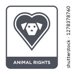 animal rights icon vector on... | Shutterstock .eps vector #1278378760