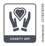 charity app icon vector on... | Shutterstock .eps vector #1278378769