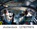 pilots fly the plane. view from ... | Shutterstock . vector #1278379876
