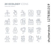 collection of 20 ecology linear ... | Shutterstock .eps vector #1278381319
