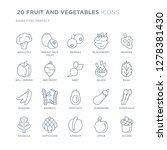 collection of 20 fruit and... | Shutterstock .eps vector #1278381430