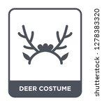 deer costume icon vector on... | Shutterstock .eps vector #1278383320