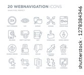 collection of 20 webnavigation... | Shutterstock .eps vector #1278384346