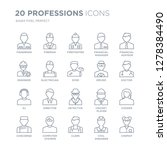 collection of 20 professions... | Shutterstock .eps vector #1278384490