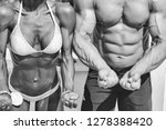 fit woman and man show perfect... | Shutterstock . vector #1278388420