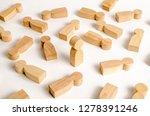 the human figure stands among...   Shutterstock . vector #1278391246
