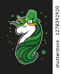 cute unicorn st patrick day... | Shutterstock .eps vector #1278392920