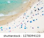 an aerial view of people on the ... | Shutterstock . vector #1278394123