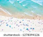 an aerial view of people on the ... | Shutterstock . vector #1278394126