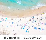 an aerial view of people on the ... | Shutterstock . vector #1278394129