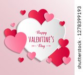 concept of valentine's day... | Shutterstock .eps vector #1278399193