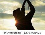 man shooting ducks with a...   Shutterstock . vector #1278400429