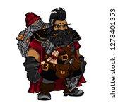 fantasy dwarf engineer. outline ... | Shutterstock .eps vector #1278401353
