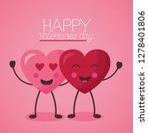 valentine day card | Shutterstock .eps vector #1278401806