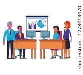 business coworkers executives | Shutterstock .eps vector #1278413470