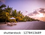 amazing tropical sunset with... | Shutterstock . vector #1278413689