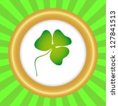 clover trefoil in a vintage... | Shutterstock .eps vector #127841513