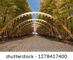 sokolniki park  sunny autumn... | Shutterstock . vector #1278417400