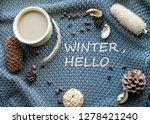winter morning with coffee and... | Shutterstock . vector #1278421240