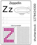 worksheet. writing a z ... | Shutterstock .eps vector #1278424300